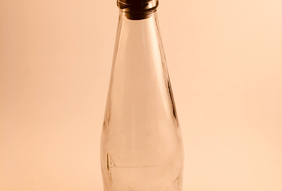 BEER BOTTLE UPSIDE DOWN GLASS