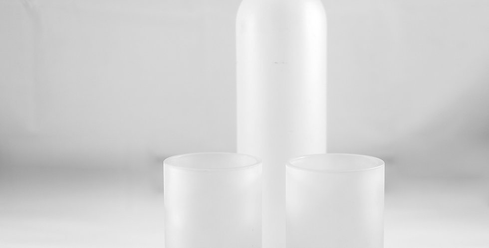 FROSTED WHITE VODKA BOTTLE WATER FLASK - CARAFE SET