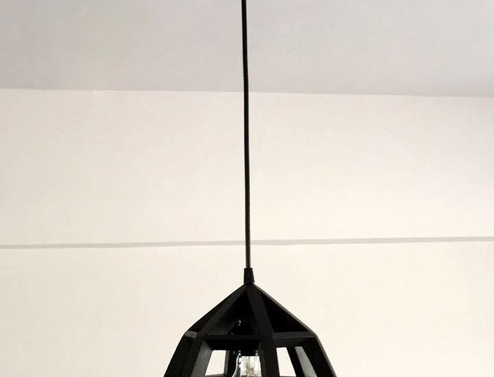 WOODEN PENDANT LIGHT Fixture - Recycled Pallet wood Hanging Lamp