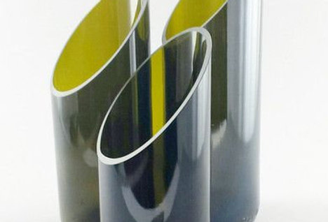Succulent Planter / Flower vase made from wine bottle