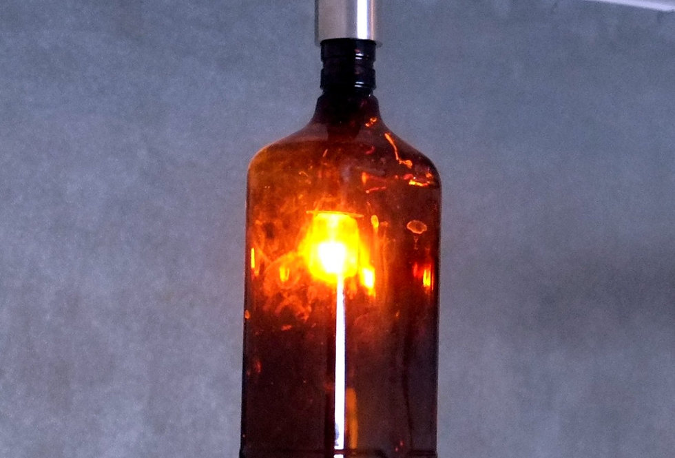 Industrial Bottle Lighting - Ceiling Pendant Light Made from Ballantine's finest