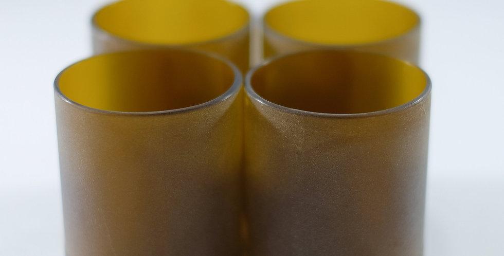 AMBER BEER BOTTLE GLASSES -10 Ounce - 300 mL