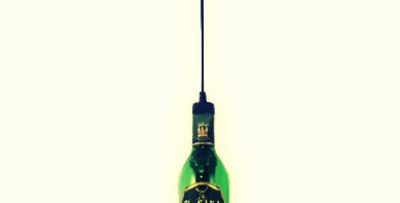 Industrial Pendant Light / Lamp Made from Glenfiddich bottle
