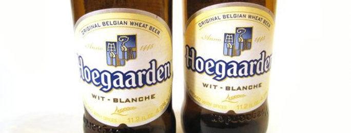 HOEGAARDEN BEER BOTTLE GLASSES