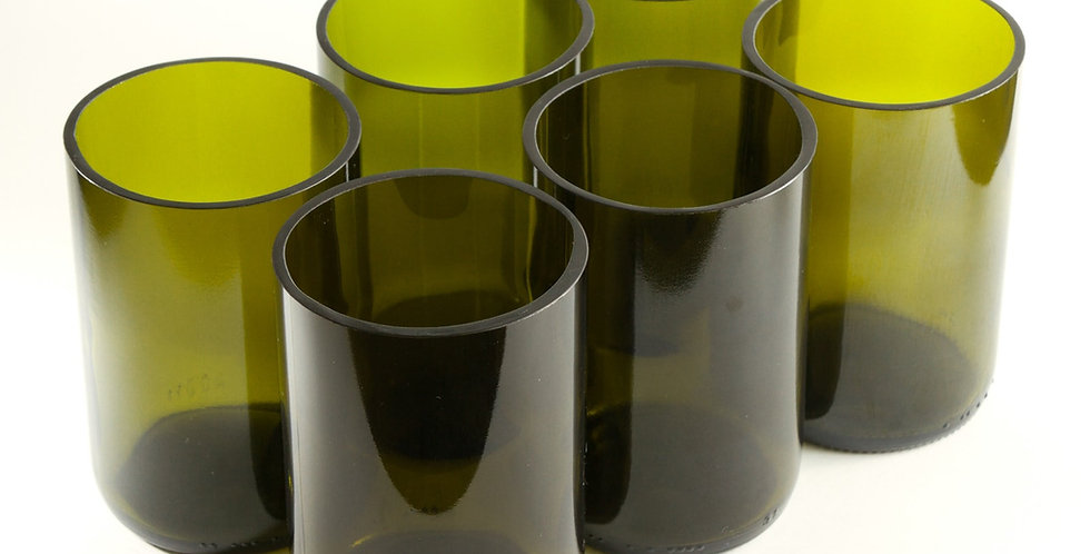 WINE BOTTLE GLASSES - RECYCLED  TUMBLERS