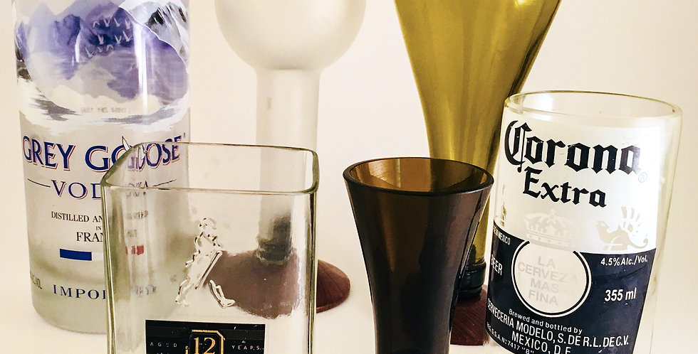 QUIRKY BAR GLASSWARE SET