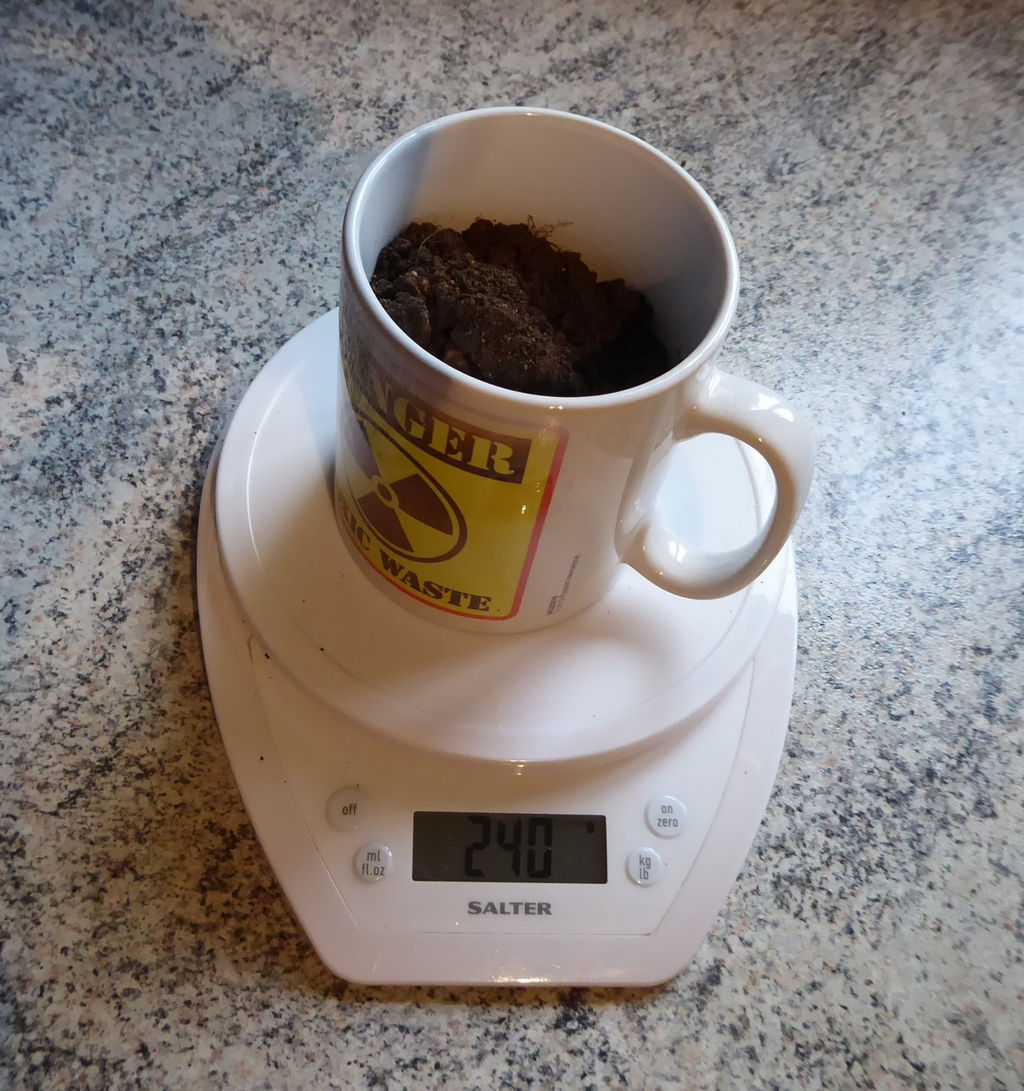 How Much Does a coffee cup weigh?