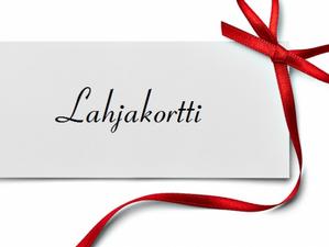 Tilaa lahjakortti suoraan saajalle postitse tai sähköpostin kautta.