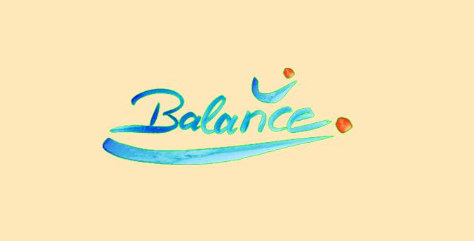 Balance freigestellt in Farbe Hintergrun