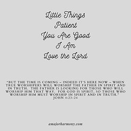 Little Things Patient You Are Good I Am