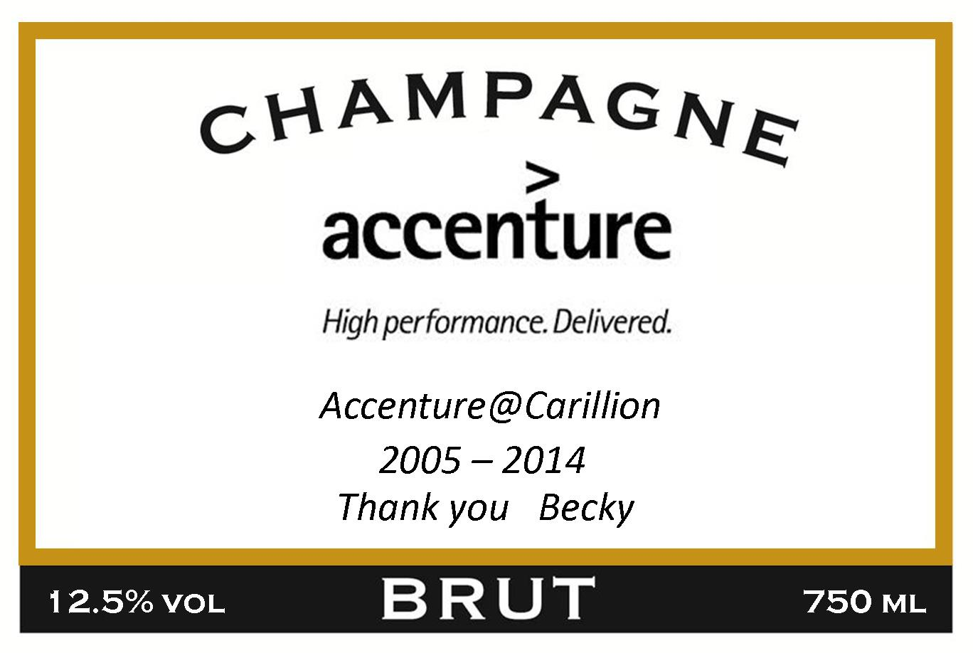Accenture Long Service Award Label