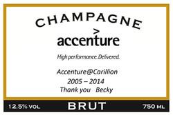 Accenture Long Service Award Label