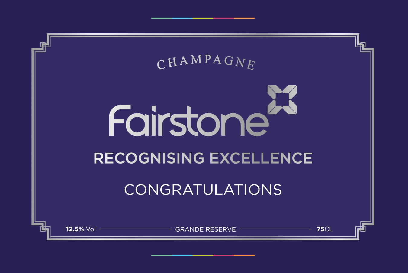 Fairstone Award Champagne Label