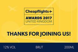 Cheapflights Award Mini Champagne
