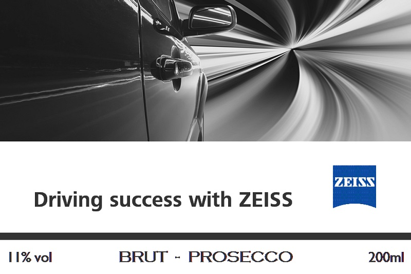 Zeiss Branded Prosecco Label