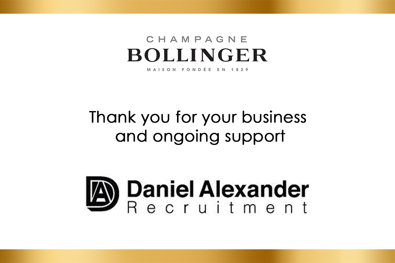 Recruiter Bollinger Champagne Label