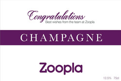 Zoopla Client Gift Champagne Label