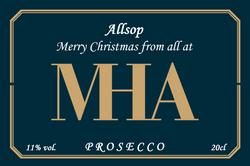 MHA  Branded Champagne Label