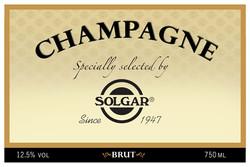 Solgar Branded Champagne Label