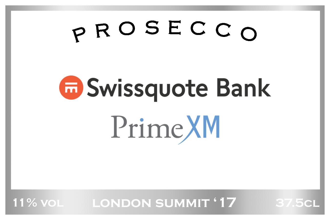 Swissquote PrimeXM Prosecco Label