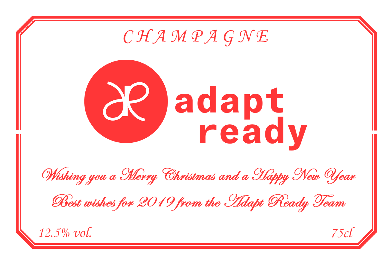 Adapt Ready Branded Champagne Label
