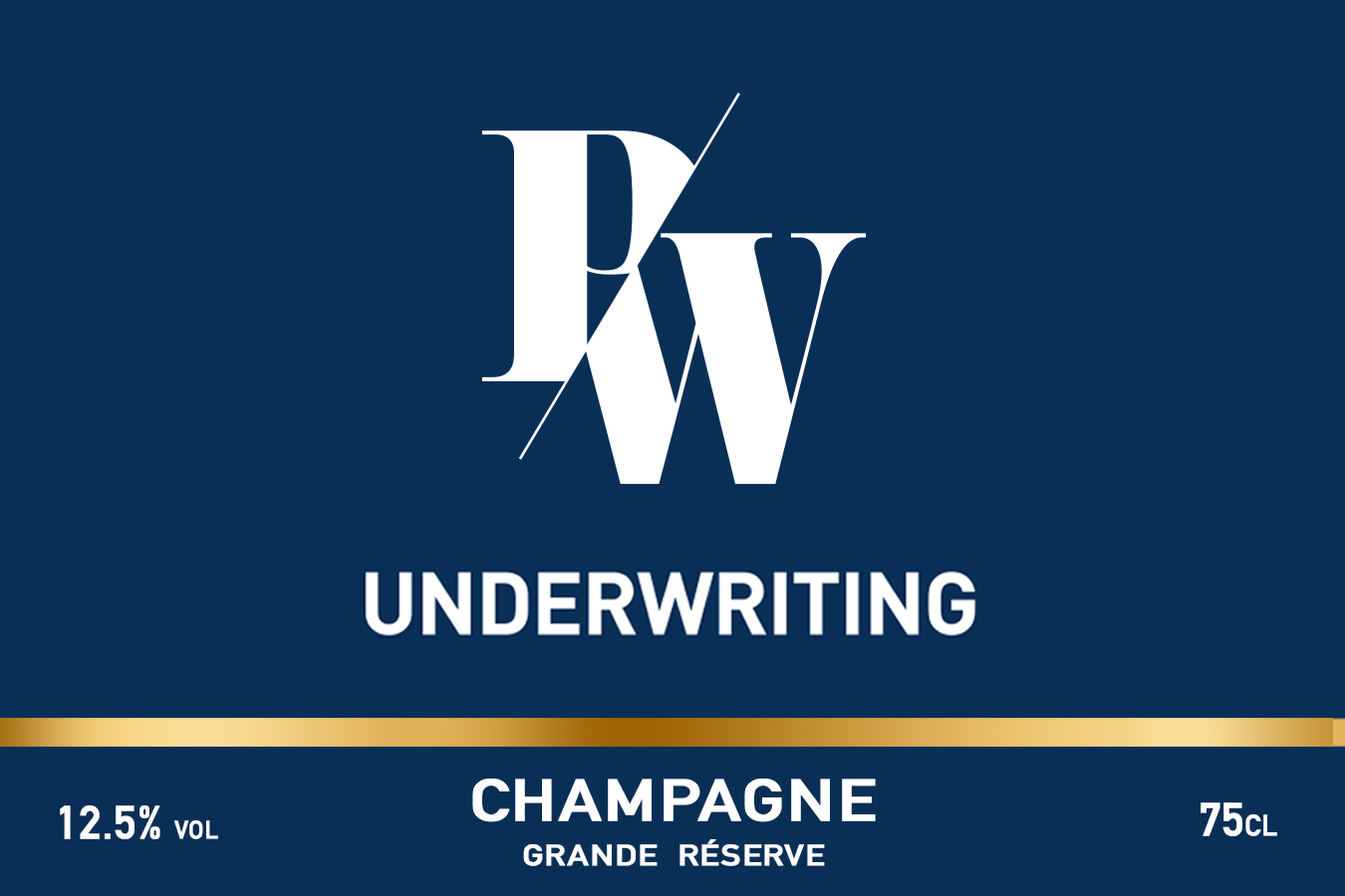 PWU Branded Champagne Label