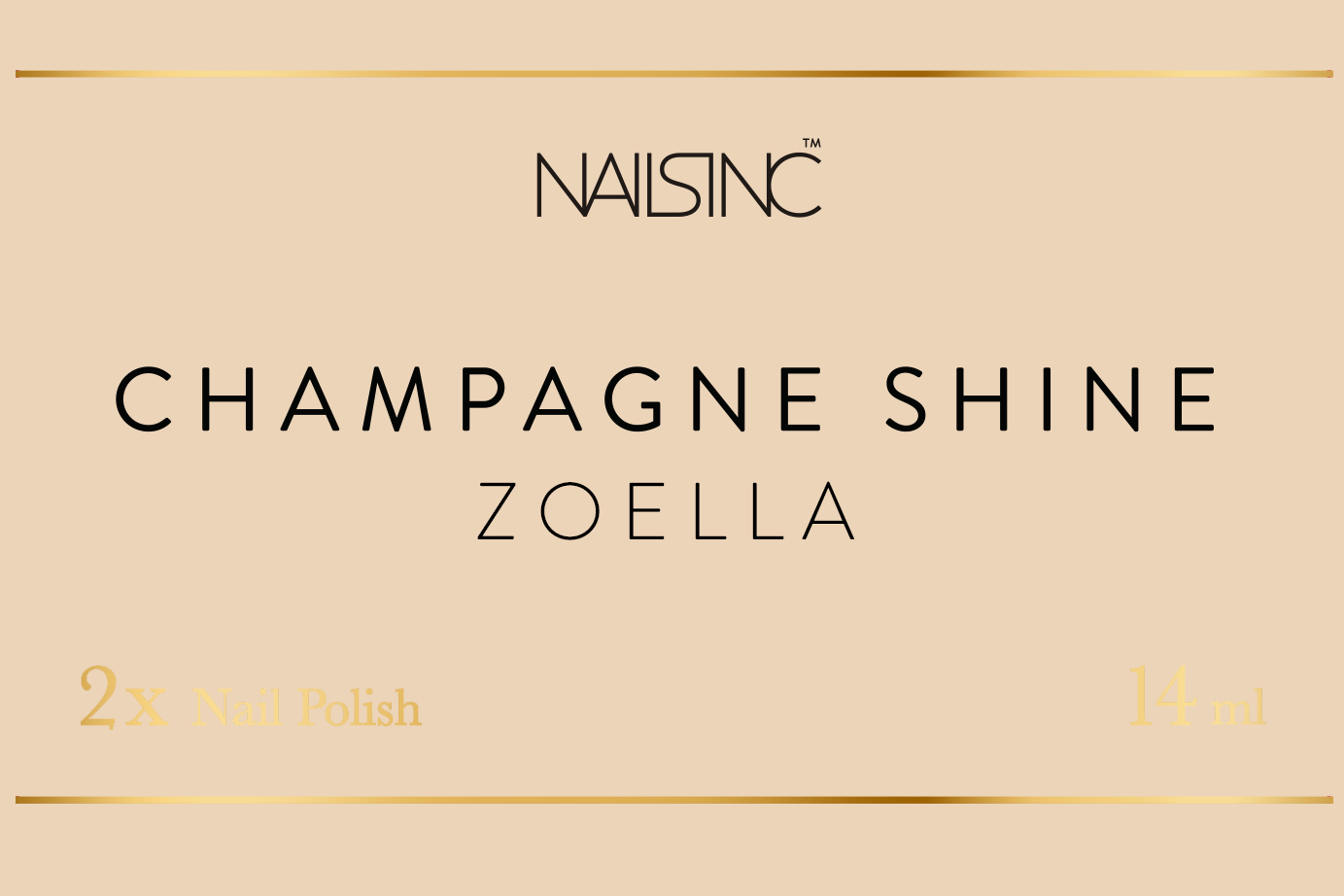 Nails Inc Branded Champagne Label