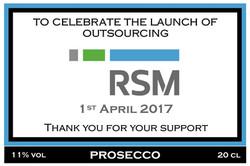 RSM Launch Prosecco Label