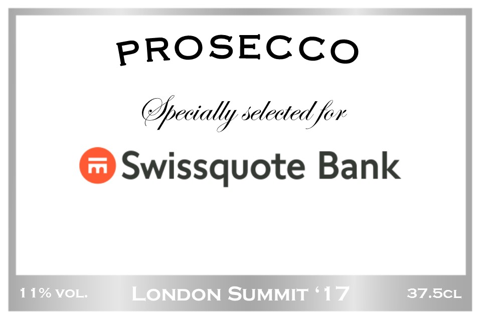 Swissquote Branded Prosecco Label