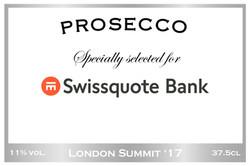 Swissquote Branded Prosecco Label