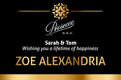 Zoe Alexandria Wedding Thank You Label