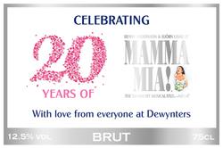 Mamma Mia Branded Champagne Label