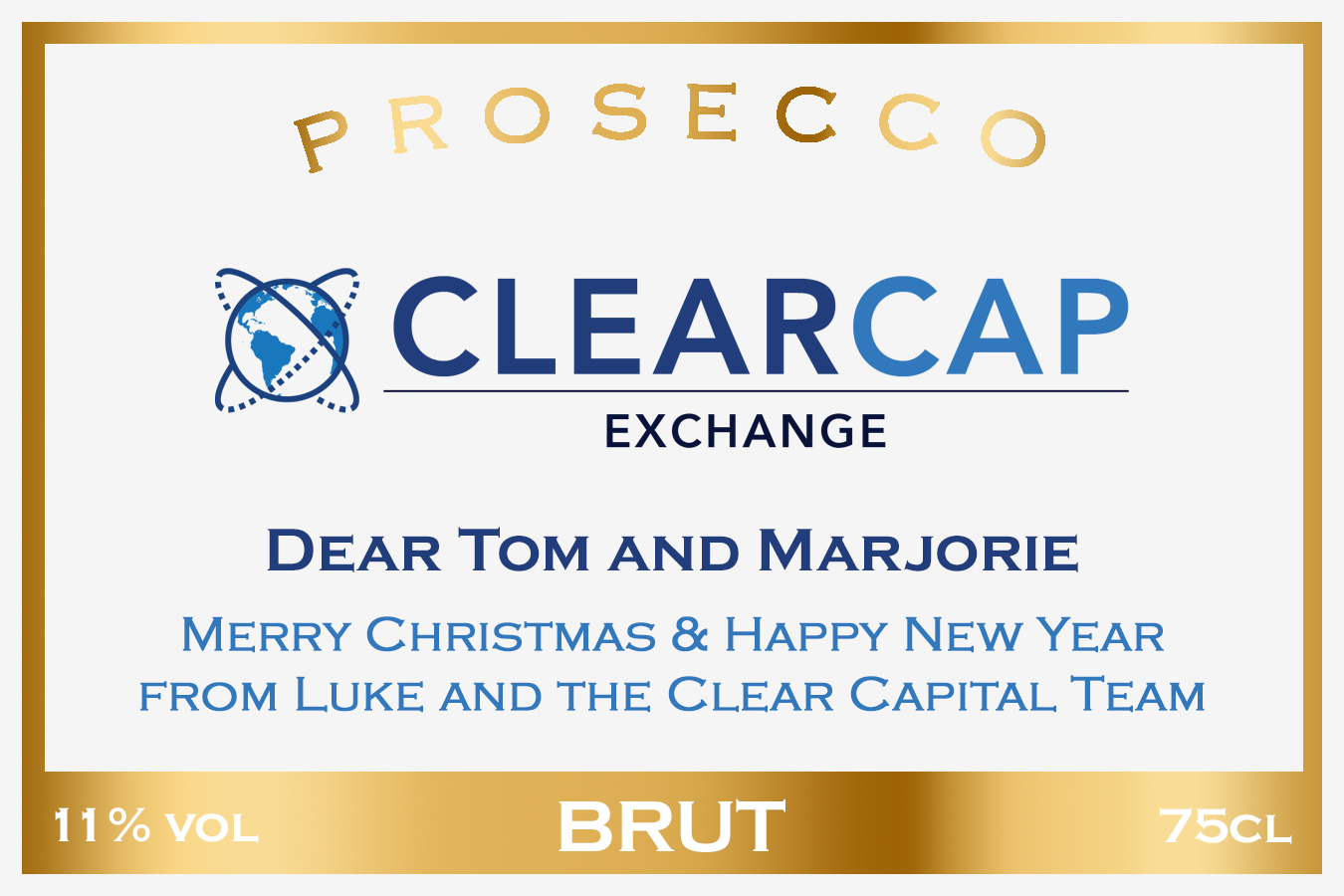 Clear Cap Exchange Branded Label
