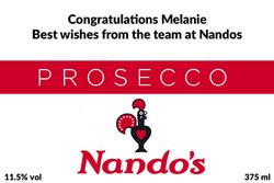 Nandos Branded Prosecco Label