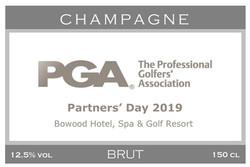 PGA Awards Branded Champagne Label