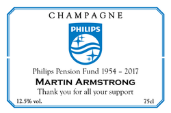 Philips Branded Champagne Label