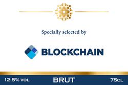 Blockchain Branded Champagne Label