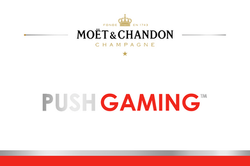 Push Gaming Branded Champagne Label
