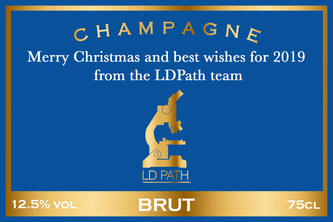 LD Path  Branded Champagne Label