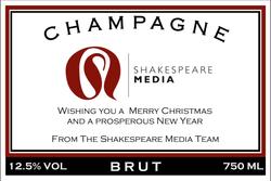 Shakespeare Media Branded Champagne