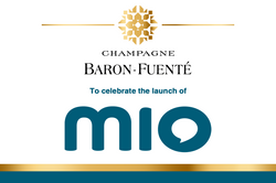 Mio Launch Branded Champagne Label
