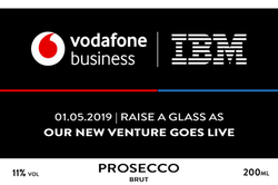 Vodafone Branded Champagne Label