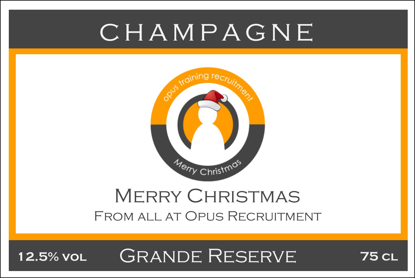 Opus  Branded Champagne Label