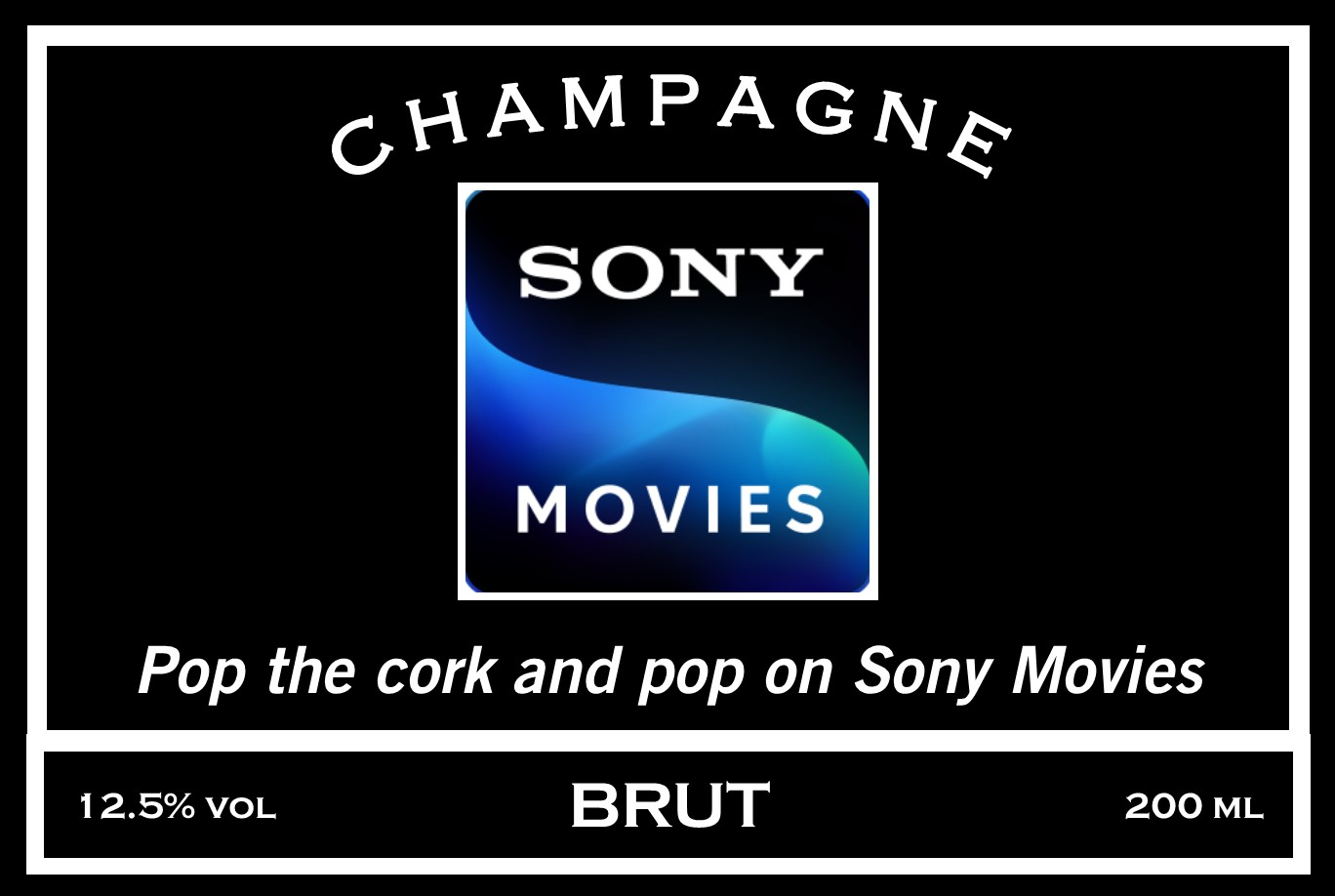 Sony movies Mini Champagne Label
