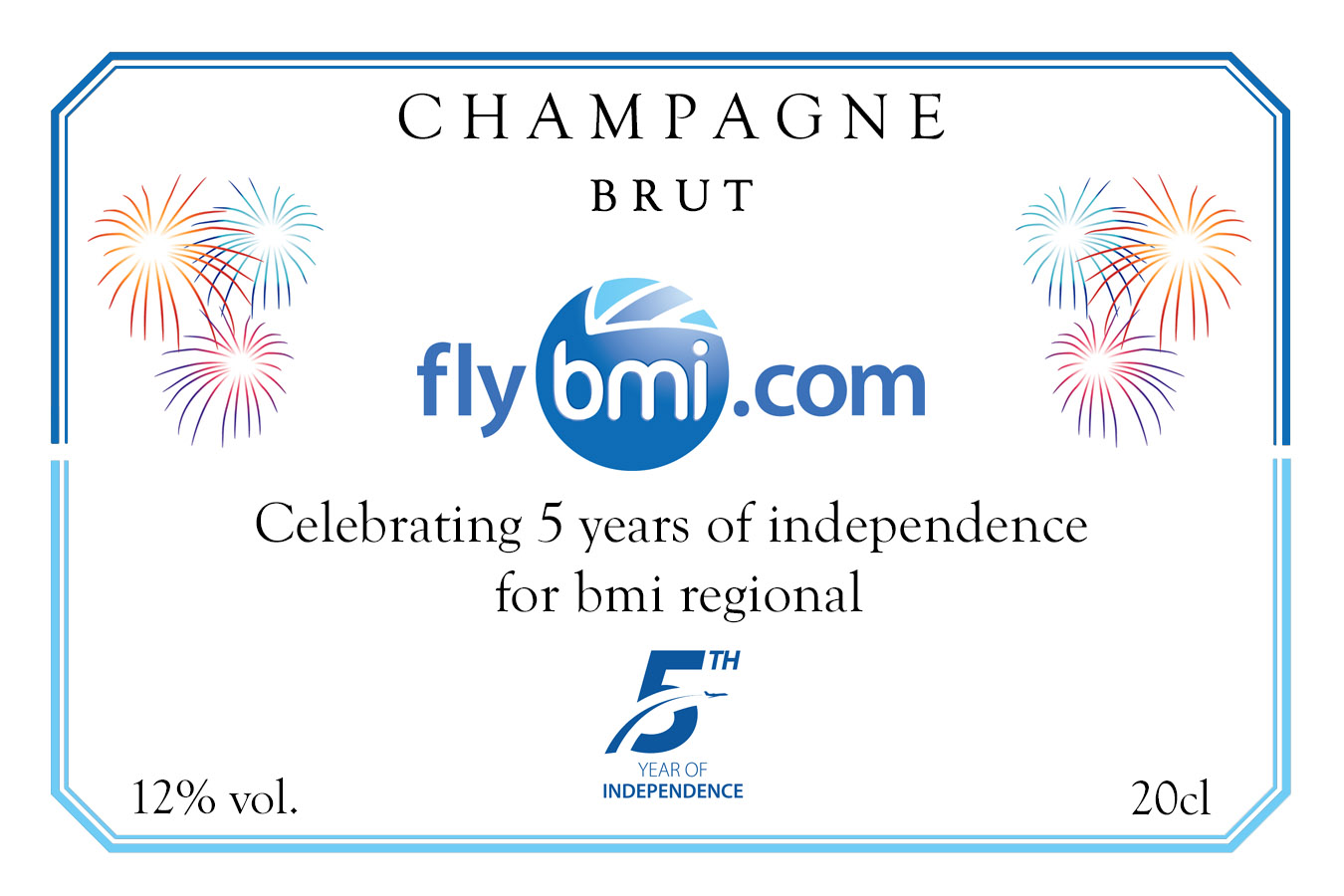 BMI 5th Anniversary Champagne Label