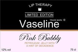 Vaseline Branded Champagne Label