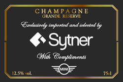 Sytner Branded Champagne Gift Label