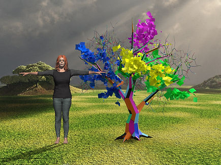 complete dream tree with woman for scale