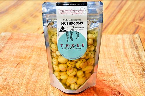 Mushrooms and Herbs in Vinegarette