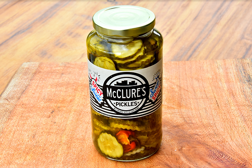 Spicy & Sweet McClure's Pickles